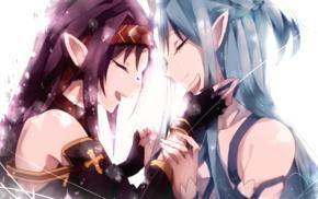 anime girls, Yuuki Asuna, Sword Art Online, Konno Yuuki