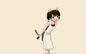 dark hair, anime girls, TAMACHI Yuki, apron, short hair, manga