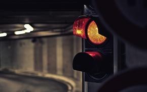 traffic lights, tunnel, street light, traffic