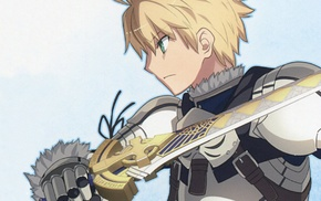 anime boys, blonde, sword, FatePrototype, Saber