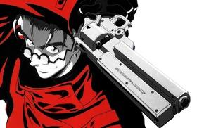 Vash the Stampede, anime boys, weapon, Trigun