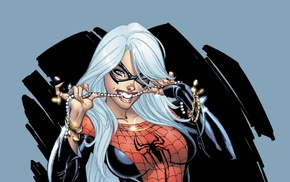 Marvel Comics, J. Scott Campbell, illustration, Black Cat character, costumes