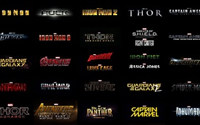 Iron Fist, Iron Man, Daredevil, Captain America The First Avenger, Thor 2 The Dark World, Hulk