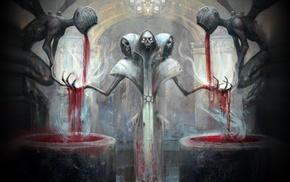 artwork, fantasy art, surreal, Magic The Gathering, blood