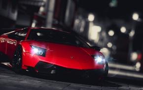 Lamborghini Murcielago LP 670, 4 SV, red cars, video games, Gran Turismo 5, car