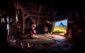 illustration, digital art, fantasy art