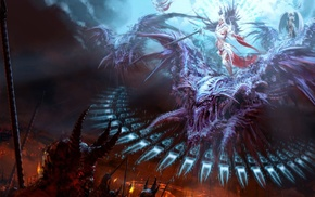 demon, painting, fantasy art, angel