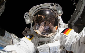 astronaut, Earth, selfies, space, International Space Station, Alexander Gerst