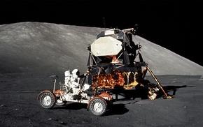 astronaut, moon, space, Apollo