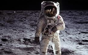 moon, space, Apollo, astronaut