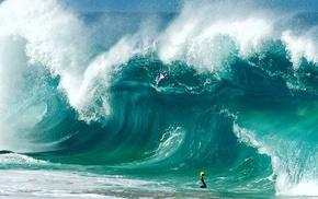 waves, beach, water, sea