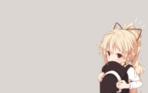 anime girls, Kirisame Marisa, yellow eyes, ponytail, anime, blonde