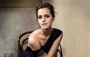 brunette, Emma Watson, girl, actress