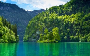 lake, landscape, water, Germany, nature, forest
