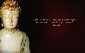 Buddhism, sculpture, minimalism, peace, meditation, quote