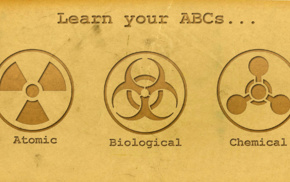 simple background, chemistry, knowledge, quote, circle, biohazard
