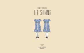 movie poster, blue dress, simple background, movies, Stanley Kubrick, The Shining