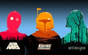 Darth Vader, movies, C, 3PO, Boba Fett, Star Wars