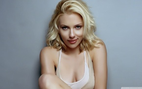 Scarlett Johansson, actress, cleavage, girl, model