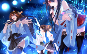 anime, Haruna KanColle, Hiei KanColle, Kongou KanColle, Kirishima KanColle, Kantai Collection