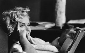 Marilyn Monroe, monochrome, actress