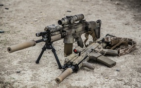 gun, assault rifle, FN SCAR, 16, weapon, 17