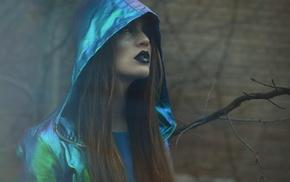 model, girl, makeup