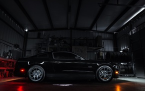 Ford, black paint, muscle cars, Ford Mustang GT, Ford Mustang