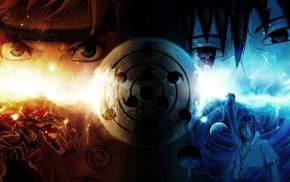 Sharingan, Uchiha Sasuke, Naruto Shippuuden, Uzumaki Naruto