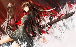 black dress, THE iDOLMSTER Cinderella Girls, anime girls, guitar, Shibuya Rin, long hair