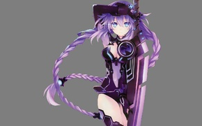 anime, Hyperdimension Neptunia, Purple Heart, sword, anime girls
