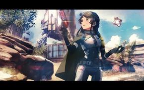 weapon, Mogami Shizuka, Destiny, anime, THE iDOLMSTER, anime girls