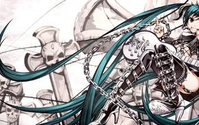 Hatsune Miku, guitar, anime girls, Vocaloid, anime