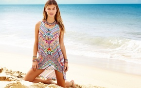 Nina Agdal, Danish, beach, girl, model