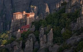 rock, Greece, nature, landscape