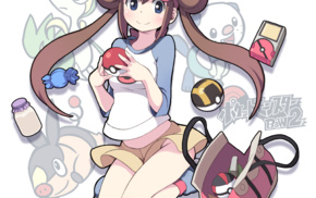 anime, skirt, Pokemon, bag, anime girls