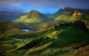 hill, nature, UK, Skye, grass, mountain
