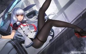 artwork, swd3e2, silver hair, Murakumo KanColle, anime girls, Kantai Collection