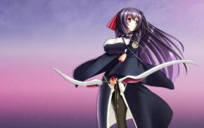 anime, anime girls, Asama Tomo, Kyoukai Senjou no Horizon, Scope10, heterochromia