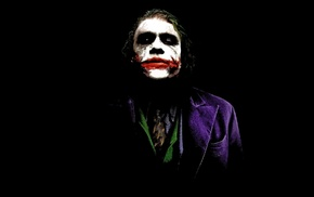 Batman, black background, black, The Dark Knight, Joker, DC Comics