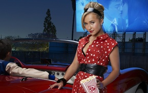 Hayden Panettiere, popcorn, actress, blonde
