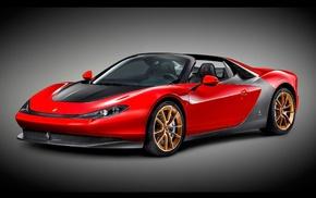 red cars, car, Ferrari, vignette, Pininfarina Sergio