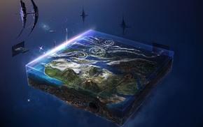space, Earth, digital art, fan art, magic, David Fuhrer