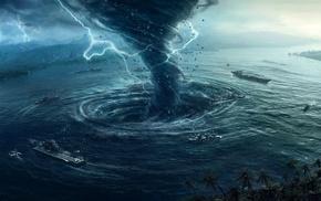 tornado, sea