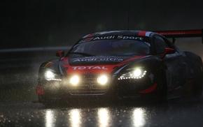 sports car, rain