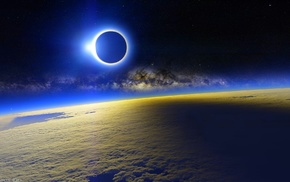 space, atmosphere, solar eclipse