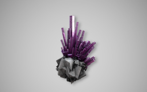 purple, crystal
