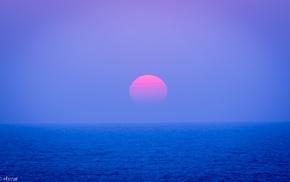 Sun, Japan, nature, sunset