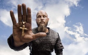 hand, Vikings TV series, cross, men, Vikings, Ragnar Lodbrok