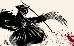 Kurosaki Ichigo, katana, Hollow, Bleach, anime